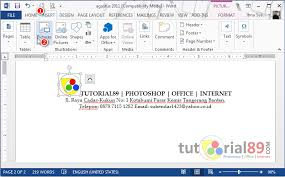membuat kop surat organisasi simulasi ict goresan