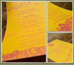 Indian Wedding Invite Indian Theme Wedding Invitations Bombay 100 Recycled Paper
