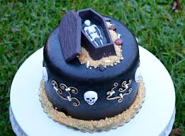 Halloween Coffin Cake by Traylor Made Treats Skeleton Cake