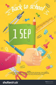 back school poser big sale stationery stock vector 464778815
