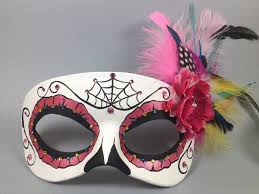 custom masquerade masks custom pink day of the dead masquerade mask by maskedzone on