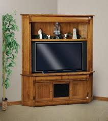 Media Center Armoire Amish Classic Sleigh Two Piece Corner Entertainment Center