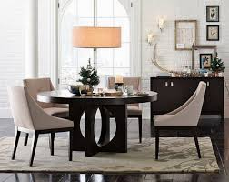 Distressed Black Dining Table Black Faux Leather Tall Backrest Dining Chairs Rustic Wooden Table