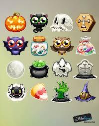 Halloween Owls Halloween Emojis Wall Decal Sticker Includes Pumpkins Ghost Spider