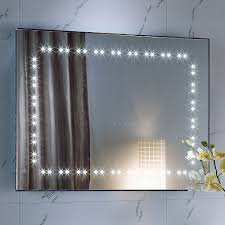 Bathroom Mirror Heated by Interior Bathroom Mirror With Led Lights Vintage Refrigerator