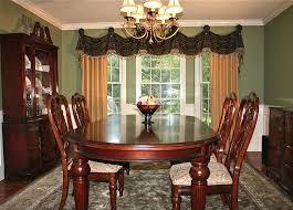 bay windows curtain ideas fair formal dining room drapes home