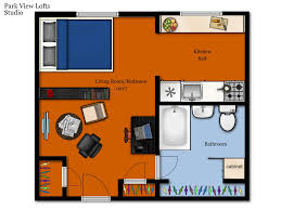 Studio Plan by Parkview Lofts Floor Plans U0026 Rates