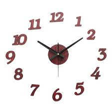 aliexpress com buy diy wall clock wooden textures stickers home