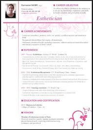 esthetician resume exle resume objective exles for esthetician archives endspiel us