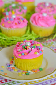 Easy Easter Cake Decorations by Easter Cupcakes Funfetti Surprise Flour On My Face