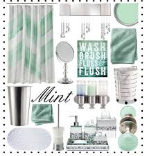 mint and silver bathroom decor polyvore