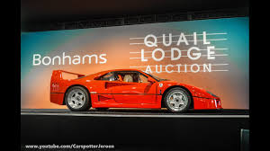 f40 auction 1990 f40 get auctioned by bonhams auction