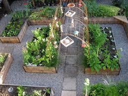 fall herb garden raised bed unique potager garden ideas small