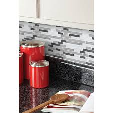 kitchen backsplash shop allen roth glacier links mixed material