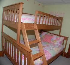 Solid Oak Bunk Bed Oak Bunk Beds With Trundle Rugged Cross Woodworking