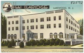 Lakewood Nj Map Hotel Claridge Lakewood N J Digital Commonwealth