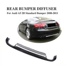 audi a5 2 door coupe black rear bumper diffuser lip bodykit fit for audi a5 coupe 2