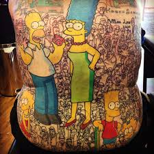 man with over 200 tattoos of the simpsons characters confirmed as