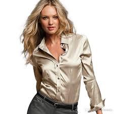 womens silk blouses best quality s xxxl satin silk blouse button silk