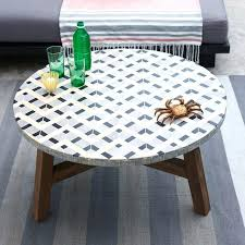 Patio Table Tile Top Coffe Table Tile Coffee Tables Mosaic Tiled Rectangular Outdoor