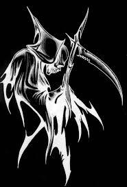 grim reaper tattoo u2013 design over black background tattooshunter com