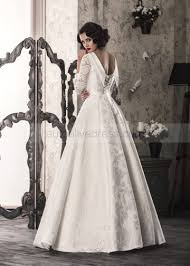 corset wedding dresses line sleeves corset back floor length ivory lace satin