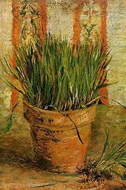 erba cipollina in vaso vincent gogh vaso con erba cipollina 100 dipinto a mano
