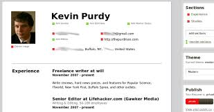 Lifehacker Resume Ceevee Creates Clean Look Resumes For Web Or Print Lifehacker