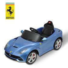 car toy blue ferrari f12 kids electric remote control blue ride on car riding