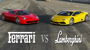 ferraris and lamborghinis vs lamborghini