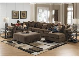 Living Room Furniture Sets With Chaise Living Room Jessa Place Pewter Sectional Living Room Set
