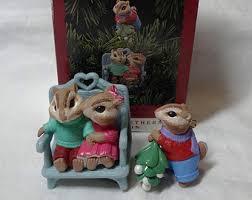 Alvin And The Chipmunks Christmas Ornament - xmas chipmunks etsy