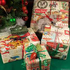 christmas gift packages vintage style christmas gift wraps cards and gift tags