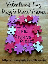valentine u0027s day puzzle piece frame