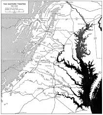 Eastern States Map map of the eastern theater american civil war 1861 1865 full size