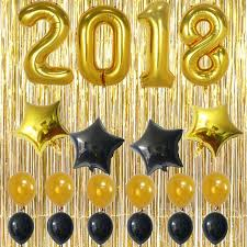 Decoration With Balloons For New Year by Aliexpress Com Buy 20pcs 40inch Number 2018 Balloons With Gold