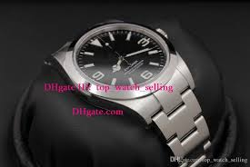 black bracelet mens watches images Aaa quality mens luxury watch 39mm black dial 214270 stanless jpg