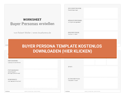 buyer persona template 28 images how to create a concrete
