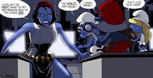 mystique secret smurf caanantheartboy deviantart
