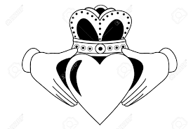 claddagh tribal tattoo royalty free cliparts vectors and stock