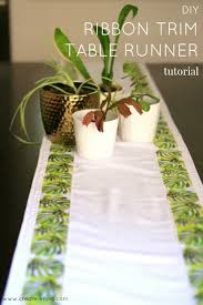 how to make table runner at home diy ribbon trim table runner tutorial by create enjoy project