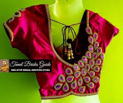 blouse designs one side work blouse designs saree blouse patterns