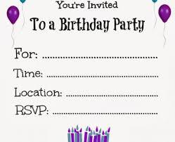 birthday invitations birthday invitations free printable birthday invitations free