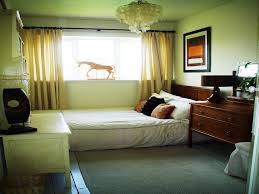 small bedroom decorating ideas with contemporary brown varnished f