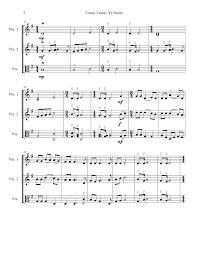 The Sweet Home Sheets Come Come Ye Saints By Timothy Rohwer Viola Violin Duet