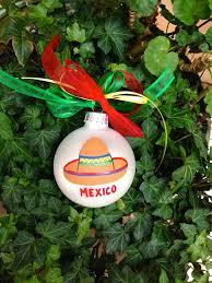 sombrero ornament personalized bauble