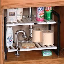 easy home expandable under sink shelf under sink shelf brackets storage shelves bathroom home ideas