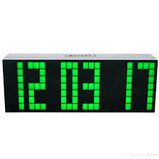 ivation clock creative remote control large led digital wall clock modern design
