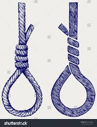 doodle hangman rope noose hangmans knot doodle style stock vector 249160888