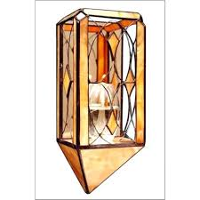 Glass Wall Sconces For Candles Sconce Stained Glass Candle Sconce Stained Glass Candle Holder